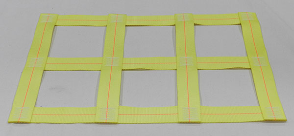 Yellow Polyester webbing netting material