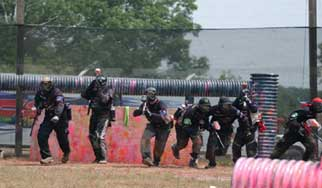 Paintball Netting Course