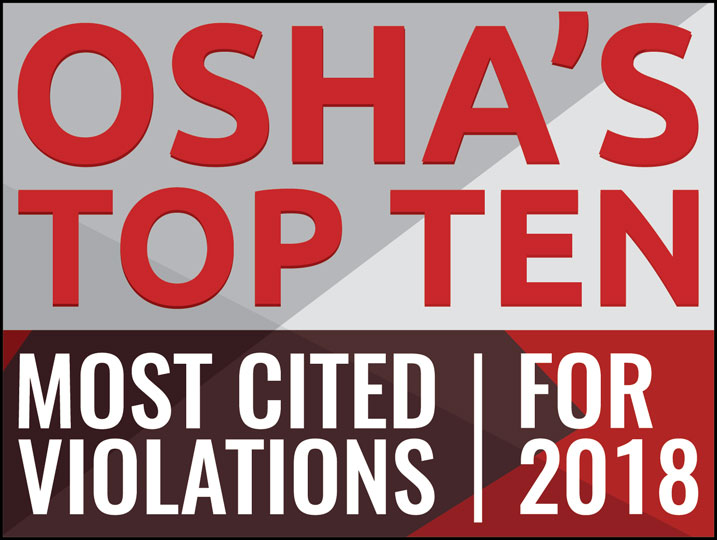 OSHA's Top 10 Most Cited Violation for 2018