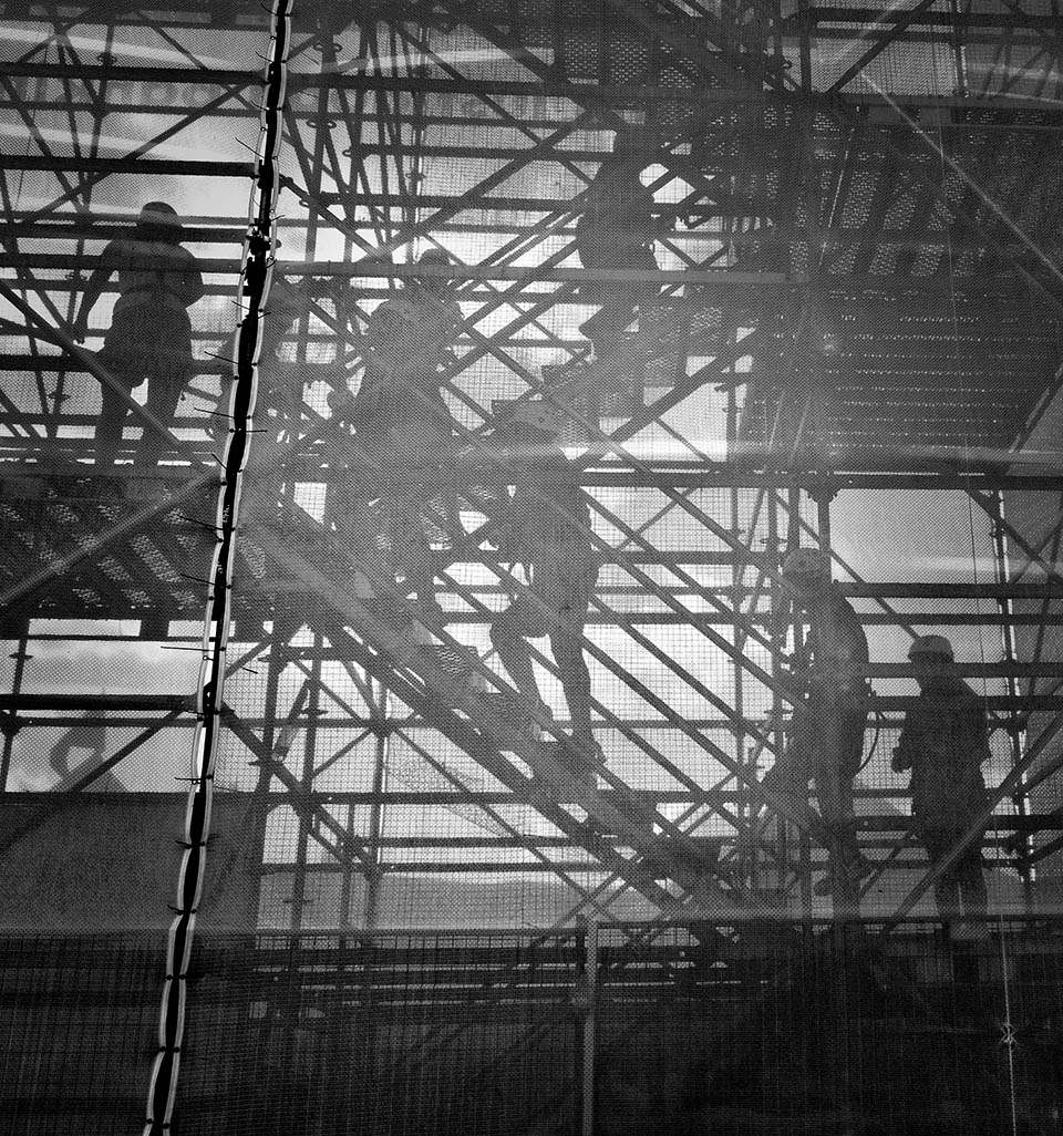 Scaffolding with Netting