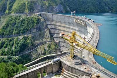 Construction of a dam
