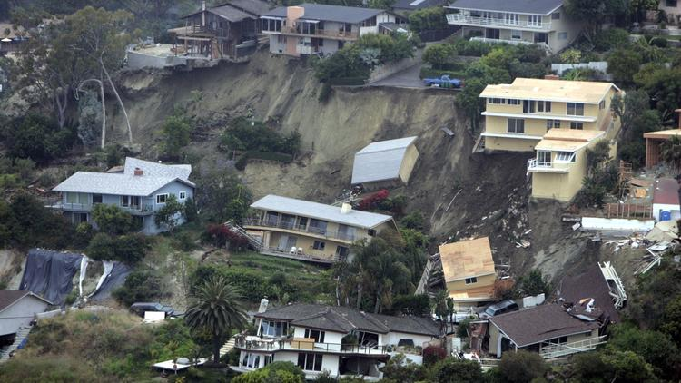 California Mud Slide damage