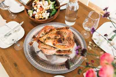 Thanksgiving Turkey upon a table