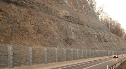 steel netting for rockfall protection