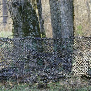 Camo Netting hunting ground blind