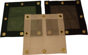 Custom Debris Saety netting panels without vinyl border