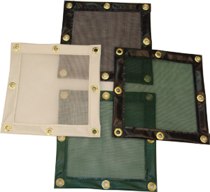 Custom Debris Safety Netting with vinyl borders and grommets