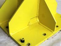 Base of bollard for gate.
