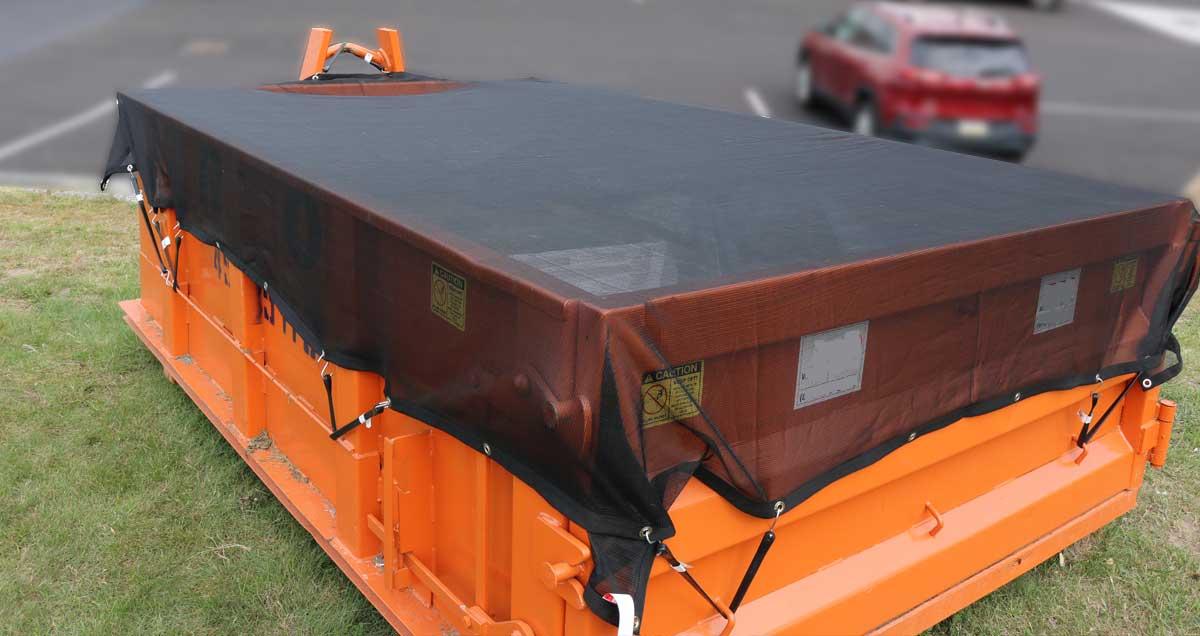 Folded Dumpster Cover