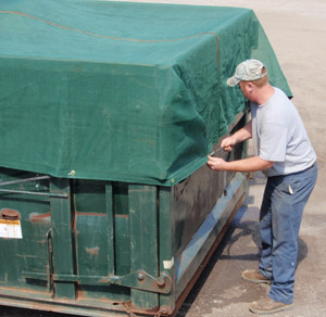 Fastening A Dumpster Cover