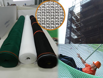 Debris Netting and Fall Safety Netting