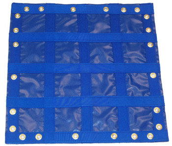 Black EZ Barrier Netting Example with grommets