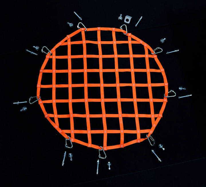 circle net with hardware
