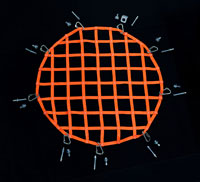 circle hardware close up