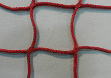 Red knit netting