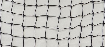 Raw knotted netting materials