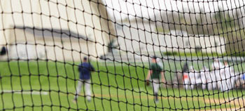 Knotted sports netting