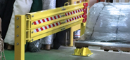 Post Mounted Loading Dock Safety Net