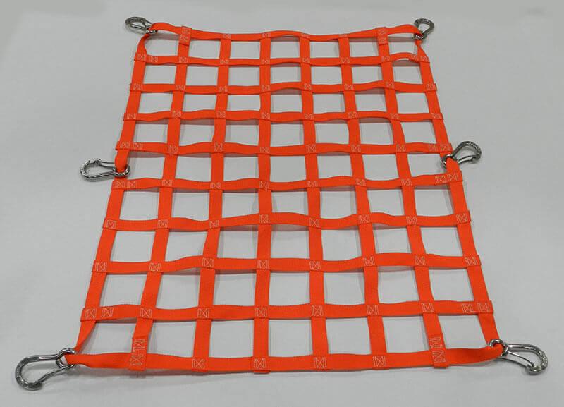 Cargo Netting with Orange Webbing