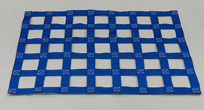Blue Polyester webbing netting material
