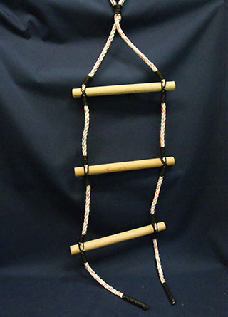 upright rope ladder