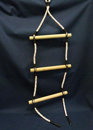 upright rope ladder