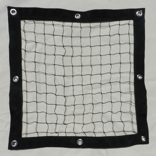 Safety barrier nets with knotted netting