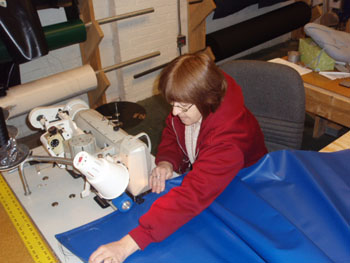 Our Staff Sewing Vinyl