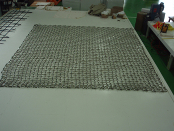 Custom Kevlar Cargo Net in production