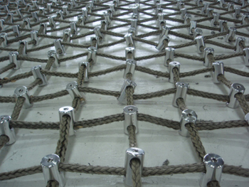Custom Kevlar Cargo Net mesh fastening points