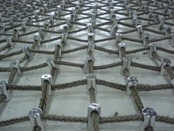 Kevlar™ netting close up