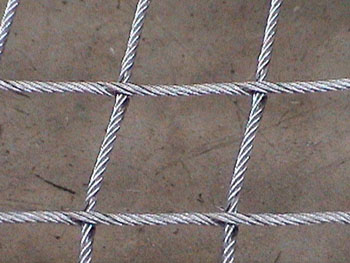 Steel Net mesh close-up