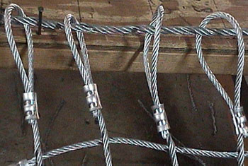 Steel Net Attachment Loops