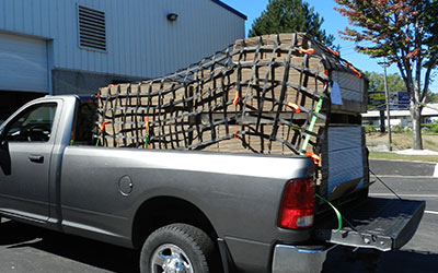 Truck with Cargo Net