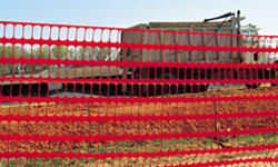 Safety Fence at Construction Site