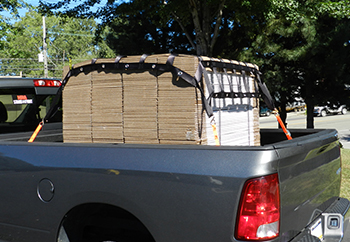 truck bed cargo net with grommets