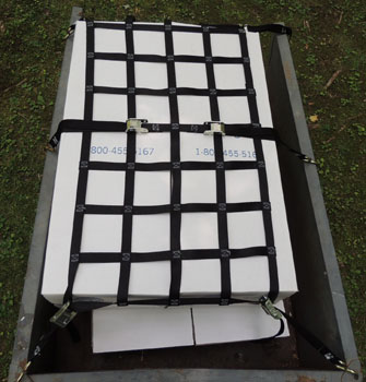 trailer cargo net top view