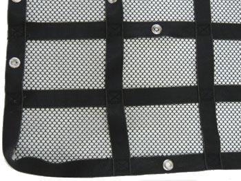 truck bed cargo net with debris liner