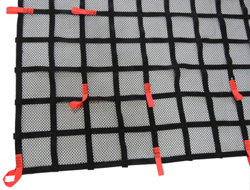 truck cargo net with debris liner