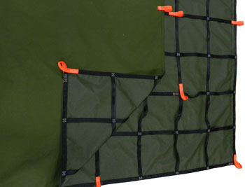 truck cargo net with tie down loops